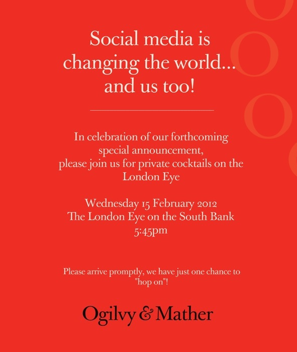 Guest Blog Post: Social@Ogilvy, Launch Party on The London Eye