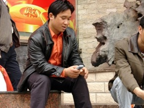 Man on Mobile in China