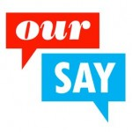 our say logo