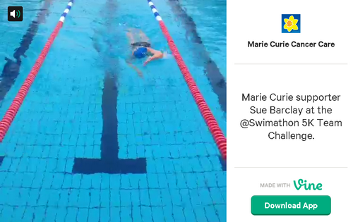 Marie Curie Cancer Care on Vine