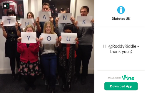 Diabetes UK on Vine