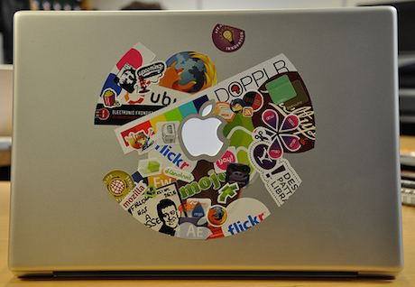 Laptop stickers by Phil Hawksworth