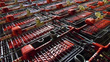 Shopping trolleys by Håkan Dahlström