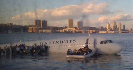 US Airways Flight 1549 Plane Crash Hudson in New York taken by Janis Krums on an iPhone by David Watts1978