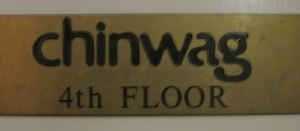 Chinwag Door Sign