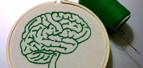 Brain Embroidery by Spectacles