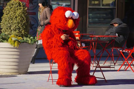 Even Elmo has a mobile phone by Ed Yourdon https://www.flickr.com/photos/yourdon/8452375025