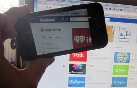 Facebook App Center through iPhone