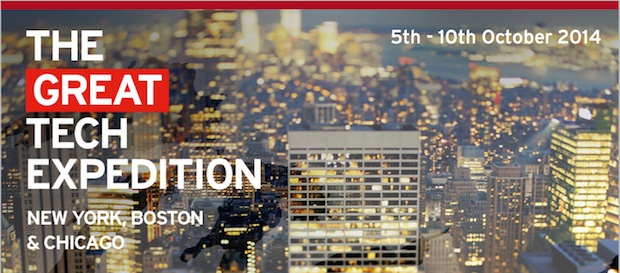 The Great Tech Expedition - Chicago, Boston, NYC - 5-10 Oct 2014