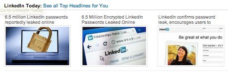 Linkedin Password Theft Screenshot