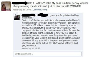 How to lose your job with Facebook