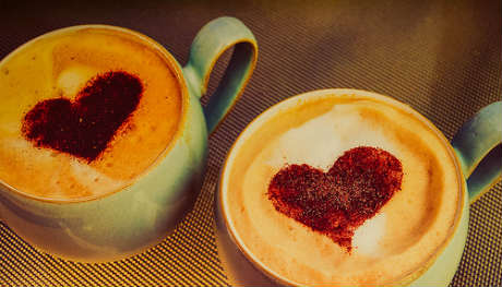 Love hearts = social/ coffee = buzz by  Bev Goodwin