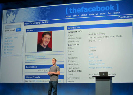 Mark Zuckerberg's original Facebook profile by Niall Kennedy