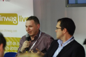Nick Halstead of Techmeme speaking at Chinwag Live on Tour