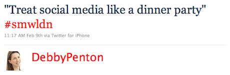 Debby Penton Tweet