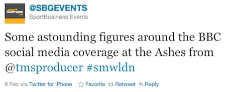 SBG Events Tweet