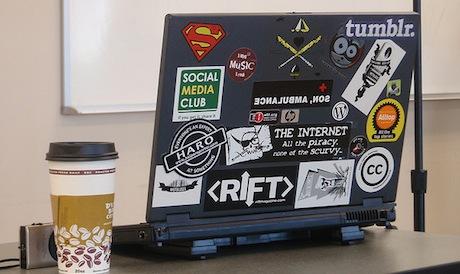 Social Media Laptop