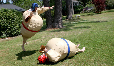 Sumo Wrestling Suits by Jason Ippolito