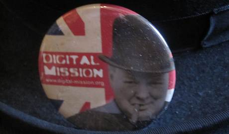 Digital Mission Winston Churchill Badge by Sam Michel