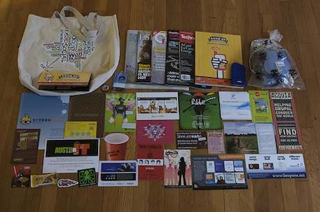 what's in my sxsw schwag bag by Joey Parsons