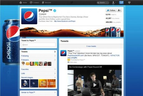 Twitter Brand Page: Pepsi Co