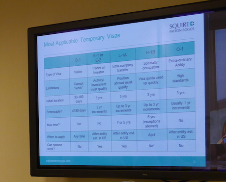 US Visa Matrix - Squire Patton Boggs